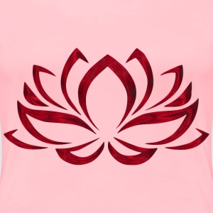Ensanguined Lotus Flower No Background - Women's Premium T-Shirt