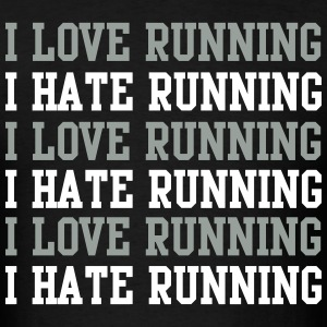 I love running I hate running T-Shirts - Men's T-Shirt