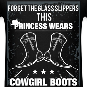 Forget the glass slippers this princess wears cowg - Men's T-Shirt