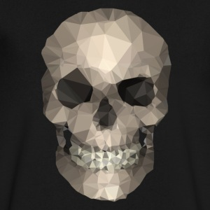 Polygons Skull T-Shirts - Men's V-Neck T-Shirt by Canvas