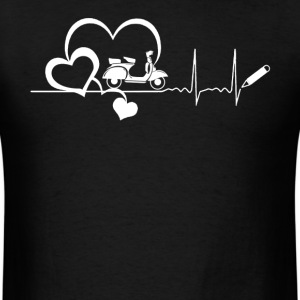 Scooter Heartbeat Shirt - Men's T-Shirt