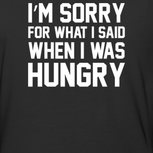 Hungry Apology Tank - Baseball T-Shirt