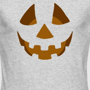 Happy Pumpkin Belly - Men's Long Sleeve T-Shirt by Next Level