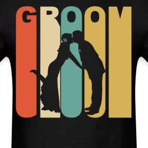 Retro 1970's Style Groom - Men's T-Shirt