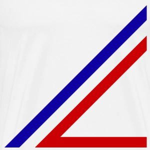 red and blue lines - Men's Premium T-Shirt
