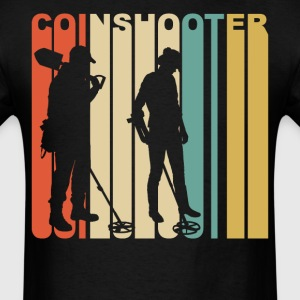 1970's Coinshooter Silhouette Metal Detecting - Men's T-Shirt