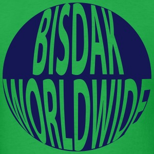 BISDAK WORLDWIDE GLOBE T-Shirts - Men's T-Shirt