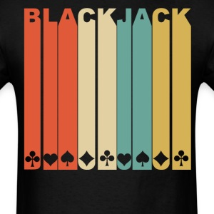 Retro 1970's Style Playing Card Suits Blackjack - Men's T-Shirt