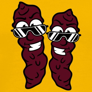 2 friends partyteam cool face boys brown sausage f T-Shirts - Men's Premium T-Shirt