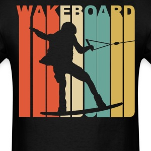 1970's Style Wakeboarder Silhouette Wakeboarding - Men's T-Shirt