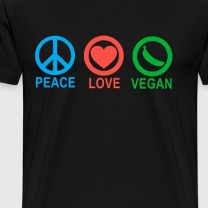 peace_love_vegan_ - Men's Premium T-Shirt