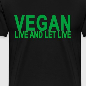 vegan_live_and_let_live_ - Men's Premium T-Shirt