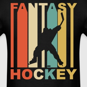 Retro 1970's Style Hockey Silhouette - Men's T-Shirt