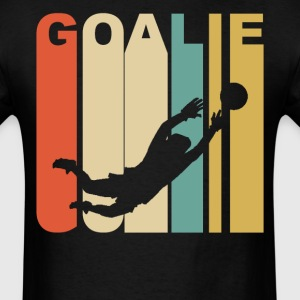 Retro 1970's Style Soccer Goalie  - Men's T-Shirt