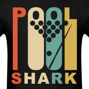 Vintage 1970's Style Pool Shark Retro Billiards - Men's T-Shirt