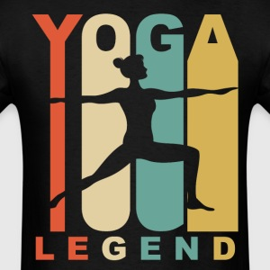 Vintage Yoga Legend Warrior Two Yoga Pose Retro - Men's T-Shirt