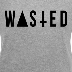 WASTED YOUTH T-Shirts - Women´s Rolled Sleeve Boxy T-Shirt