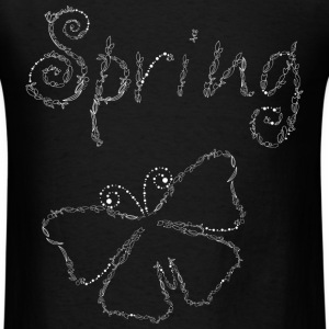 Sping and Butterfly - Men's T-Shirt