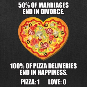 Pizza vs Love Bags & backpacks - Tote Bag