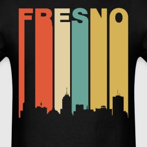 Retro Fresno California Downtown Skyline - Men's T-Shirt