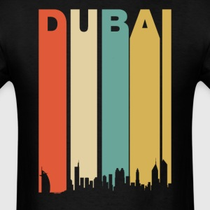 Retro 1970's Dubai UAE Cityscape Downtown Skyline - Men's T-Shirt