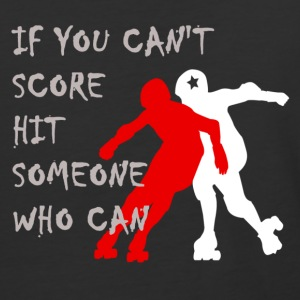 Hit Someone Roller DerbyBaseball Ringer T - Baseball T-Shirt