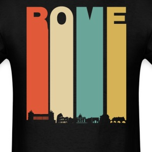 Retro Rome Italy Cityscape Downtown Skyline - Men's T-Shirt