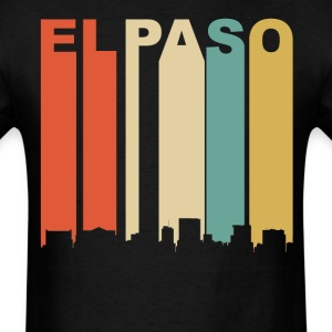 Retro El Paso Texas Cityscape Downtown Skyline - Men's T-Shirt