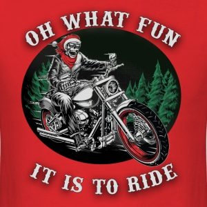 Christmas ghost rider, oh what fun it is to ride - Men's T-Shirt