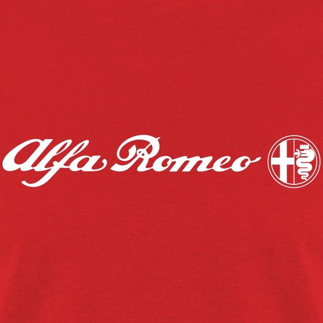 autografica | alfa romeo scriptlogo (white) - mens t-shirt