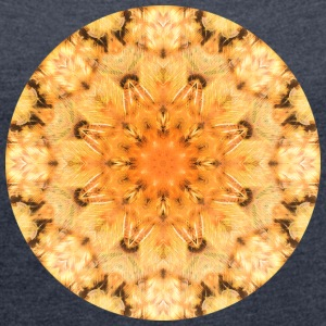 Sunshine Mandala - Women's Roll Cuff T-Shirt