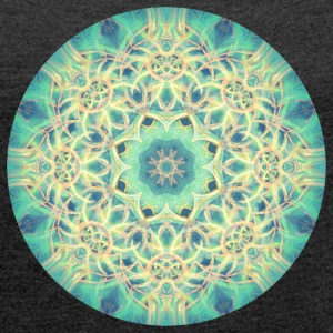 Depth of Dreams Mandala - Women's Roll Cuff T-Shirt
