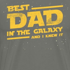 Best Dad In The Galaxy And I Knew It T-shirt T-Shirts - Men's Premium T-Shirt