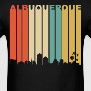 Retro Albuquerque New Mexico Downtown Skyline - Men's T-Shirt