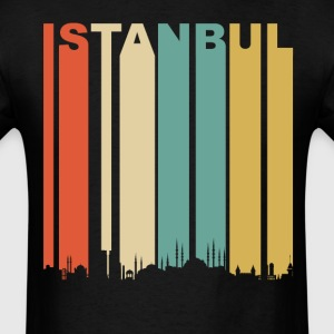 Retro Istanbul Turkey Cityscape Downtown Skyline - Men's T-Shirt