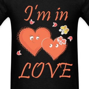 I am in Love - Heart couple - Men's T-Shirt