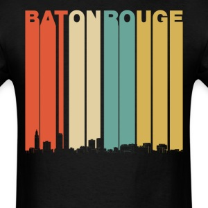 Retro Style Baton Rouge Louisiana Skyline - Men's T-Shirt