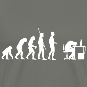 Evolution broken computer Shirt - Men's Premium T-Shirt