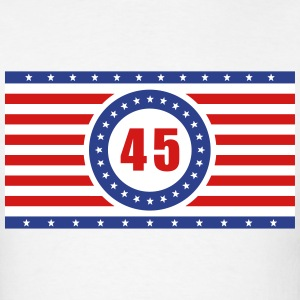 USA Flag 45 Horizontal - Men's T-Shirt