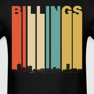 Vintage 1970's Style Billings Montana Skyline - Men's T-Shirt