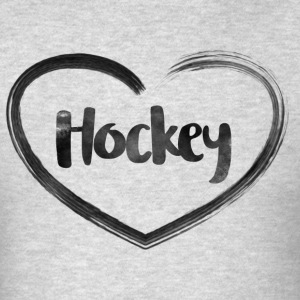 Hockey Love Heart - Men's T-Shirt