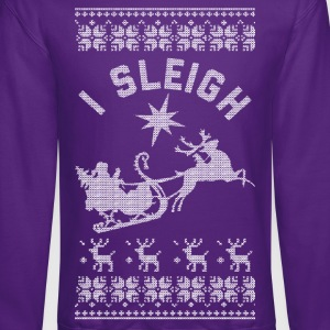 I Sleigh Long Sleeve Shirts - Crewneck Sweatshirt