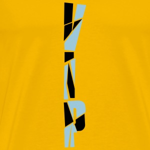 Vertical pattern scratch cool vip logo design line T-Shirts - Men's Premium T-Shirt