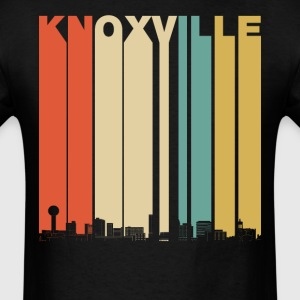 Vintage 1970's Style Knoxville Tennessee Skyline - Men's T-Shirt
