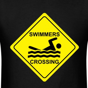 Swimmer Crossing - Men's T-Shirt
