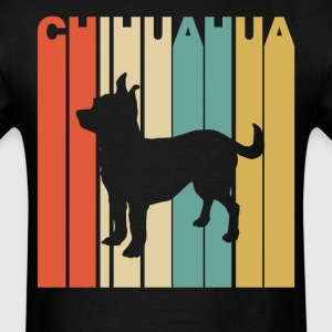 Retro Style Chihuahua Silhouette Dog Owner - Men's T-Shirt