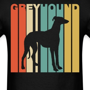 Retro Style Greyhound Silhouette Dog Owner - Men's T-Shirt