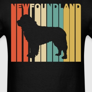 Retro Style Newfoundland Silhouette Dog Owner - Men's T-Shirt