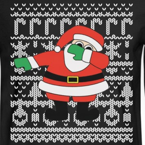 Santa Dabbing Ugly Christmas Sweatshirt - Men's Long Sleeve T-Shirt