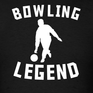 Bowling Legend Bowler Silhouette Cool Sports - Men's T-Shirt